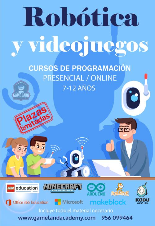 Cursos programación en robótica educativa y videojuegos